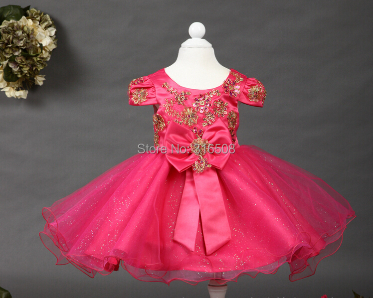Free Shipping DHL 12pcs Wholesale Girls Children Dresses Party Dress Girl Dress Wedding Traditional embroidered gauze Hot Pink<br><br>Aliexpress
