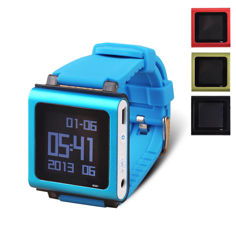 Mini Mp3 Watch Player 8GB Sports MP3 Player With Screen Time Display E-Book Video Recording Functions Clip Music Player(China (Mainland))
