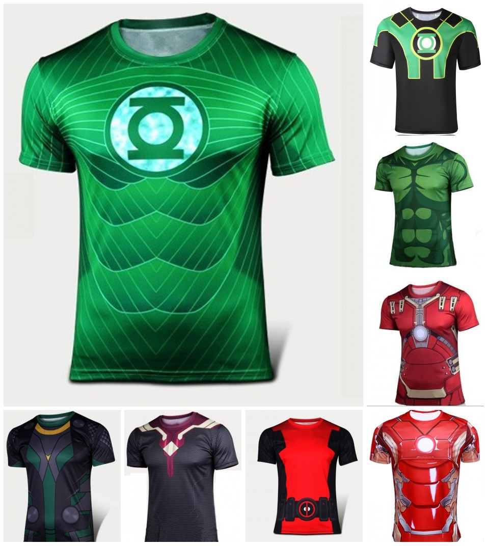 2016, the latest anime brand tights surrounding the new man Manufacturers custom-made quick-drying sporting t-shirts wholesale(China (Mainland))