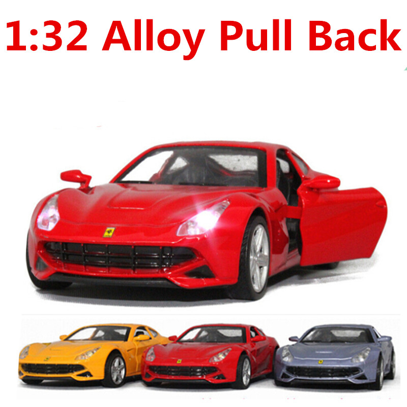 Cheap cars, High simulation Supercar, world's cars 1:32 alloy pull back model car, open the door,Diecast cars,free shipping(China (Mainland))