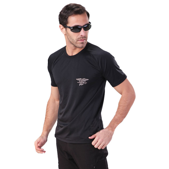 Mens Quick Dry T Shirt Outdoor 2015 New Summer Polyester Breathable Short Sleeve T-shirt High Quality Navy Seals Tactical Shirt(China (Mainland))