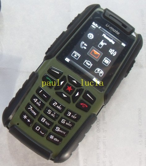 IP67 Waterproof Dustproof Shockproof Quality Outdoor Mobile U-mate A81 Military Cell Phone Quad Band Dual Sim Card Cell Phone