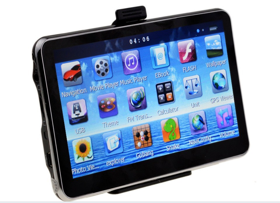 30pc/lot 7 inch tablet gps navigation navigator av in bluetooth system touch screen mp4 mp3 wince 6.0 800MHZ free shipping(China (Mainland))