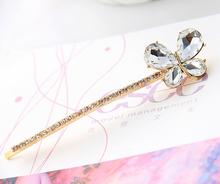 women girls crystal rhinestone butterfly hair pin wedding hair accessories