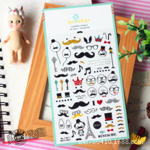 20 pcs /lot Vintage Scrapbooking Stickers post it Mustache stationery scrapbook 3D kawaii stickers/ Wholesale SONIA 1011<br><br>Aliexpress