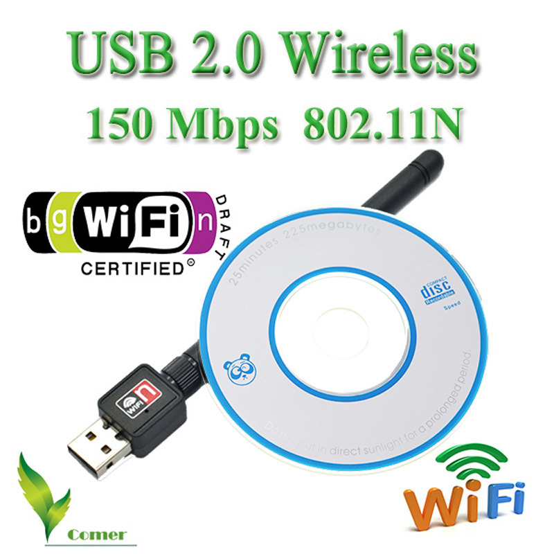 100% Original Mini 150M USB WiFi adapter Wireless Network Card LAN Adapter WIFI Antenna Computer Accessories+Software Driver(China (Mainland))