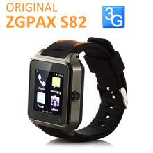 Original ZGPAX S82 3G SmartWatch Phone Android 4.4 MTK6572W Dual Core 1.54 Inch 3G 512MB 4GB GPS 2.0MP Camera