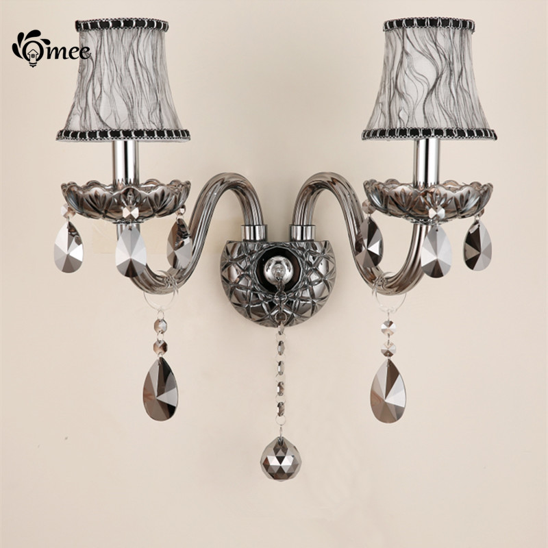 Chandelier Style Wall Sconces : Luxury Wall Sconce Lighting European style wall lights mirror front lamp bedside lamp crystal ...
