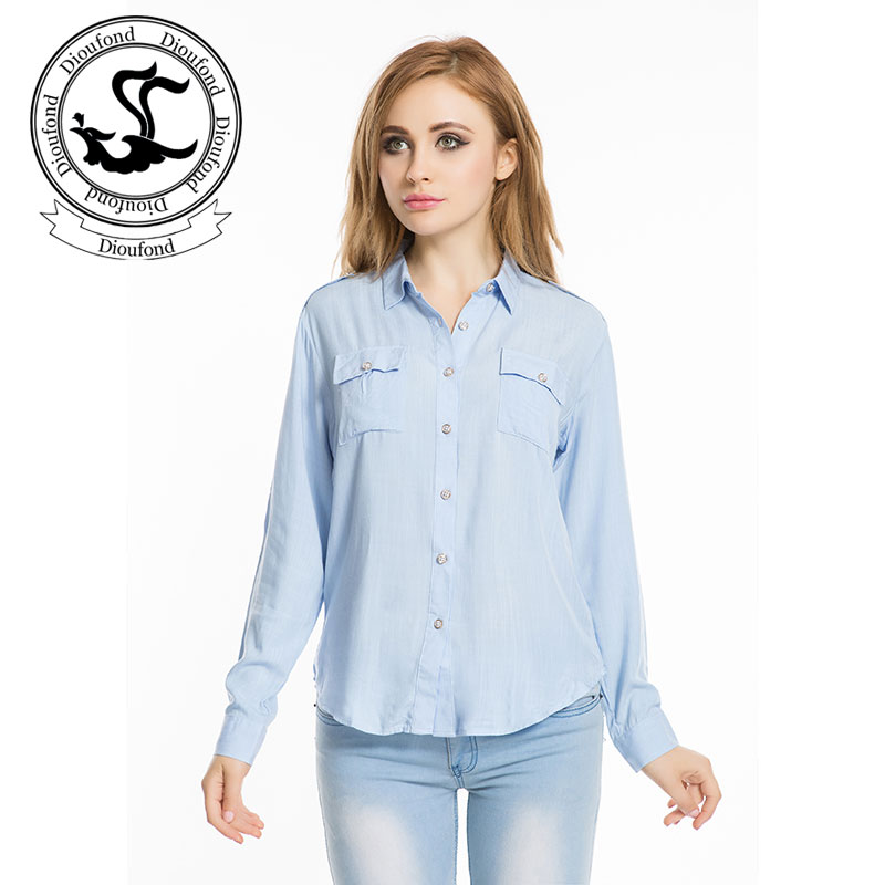 Buy Dioufond Linen Women Blouse Long