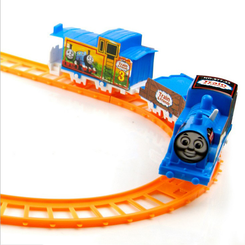 New Cute Electric Rail Car Assembly Rail Train Track Children's Toys Xmas Gift(China (Mainland))