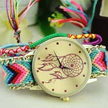 Anslow Hot Watch, 1PC Women Dress Watch Dreamcatcher Friendship Bracelet Watches Braid Handmade Quartz Hour High Quality(China (Mainland))