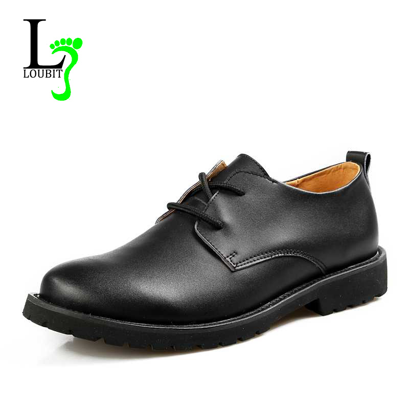 Men Leather Shoes 2015 Designer Men Genuine Leather Boots Brand Lace up Casual Business Dress Flats Shoes for Men(China (Mainland))