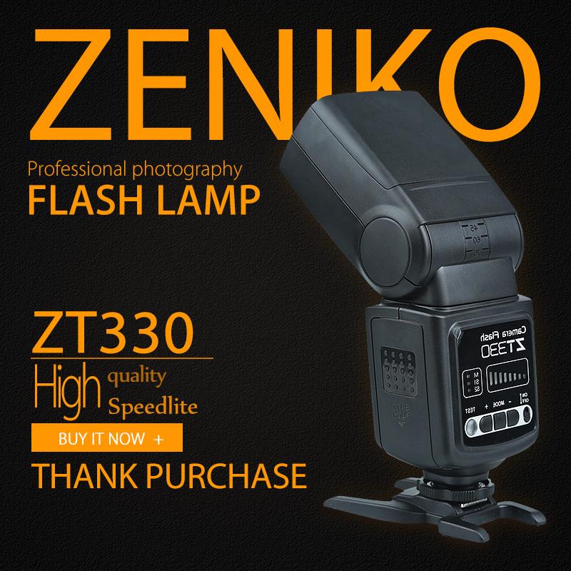 Zeniko ZT-330 Universal Camera Flashes Speedlite Speedlight for Nikon Canon Olympus Pentax D3100 D5100 1D 5DII 5DIII 50D(China (Mainland))