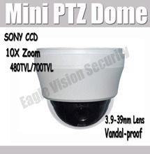 Buy Mini PTZ Dome Sony CCD Speed Dome Security Camera 10X Zoom 480TVL 700TVL 256 Presets OSD & Power Supply Vandalproof for $154.90 in AliExpress store