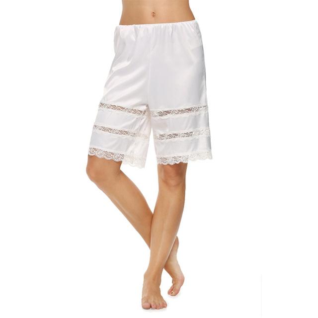Avidlove Марка 2015 Женщин Мода Атласная Ткань PettiБрюки Laciness Плюс Размер Брюки