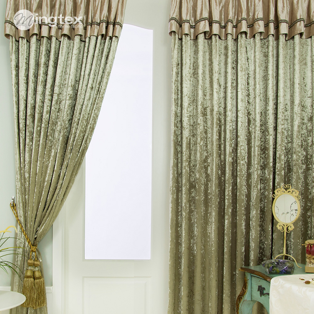 classical green curtain living room curtain