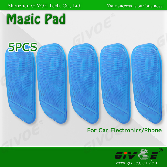 5x Blue Magic Pad Silicone Non Slip Sticker Sticky Pad Car Anti Slip Mat Car Holder For Mobile Phones DVR GPS #A093Bl