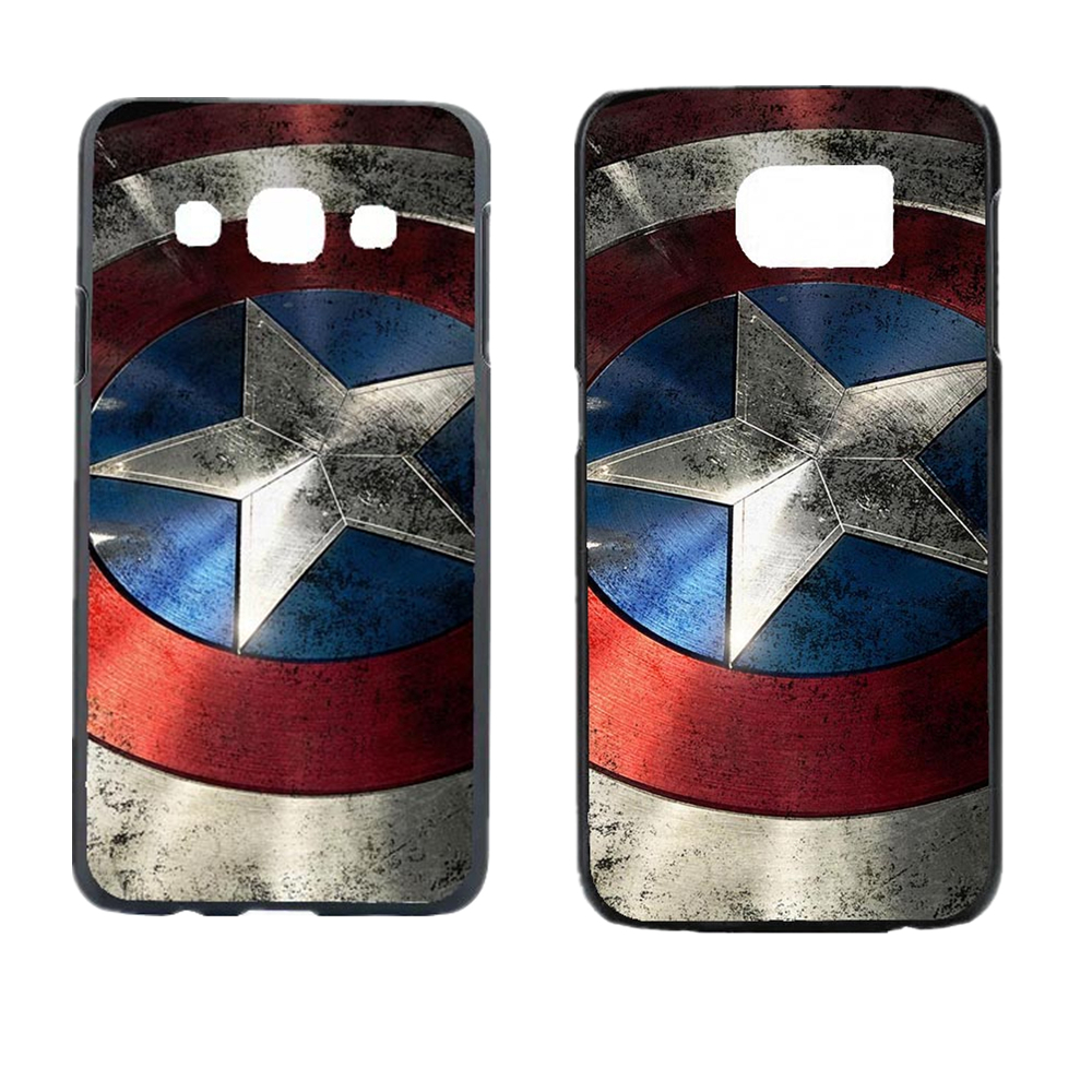 Captain America Design Case Cover For Samsung Galaxy S3 S4 S4 Mini S5 S5 Mini S6 S6 Edge Note 2 Note 3 Note 4 5 Edge A3 A5 A7 A8(China (Mainland))