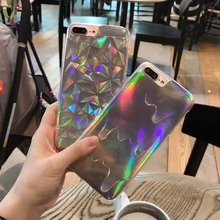 Buy 3D Diamond Bling Laser Melting Rainbow Print Case Fundas iPhone 5S 5 6 7 6S Plus Hologram Iridescent Triangle Pastel Cases for $1.60 in AliExpress store