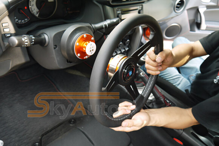 Anti-Theft Quick Release of your Car Styling Car Modified Aluminium(Red,black,gold,purple,blue) Car Steering Wheel Quick Release(China (Mainland))