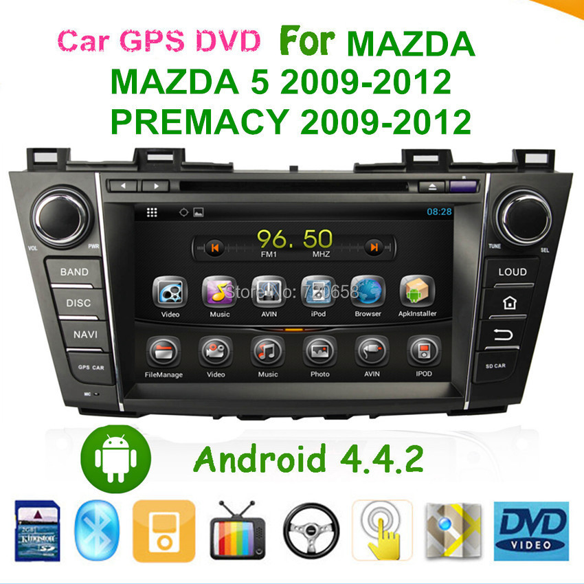 Car Android 4.4.2 PC 1.6G CPU RAM DVD GPS MAZDA 5 2009-2012 PREMACY built-in WIFI radio Navigation CANBUS - Jiangsu Kaichuang Auto Parts CO.,LTD. store