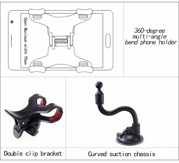 משלוח חינם טלפון נייד מחזיק רכב עצלן בעל הרכב מחזיק טלפון אוורור הר מחזיק עבור מחשב כף יד GPS PSP