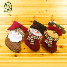 30 pcs/lot украшения техника украшения кулон вал дед мороз снеговик носки куклы натальной Adornos навидад ткань