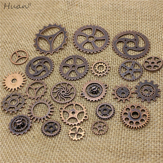 100 pcs Vintage steampunk  Gear DIY Metal Jewelry Making