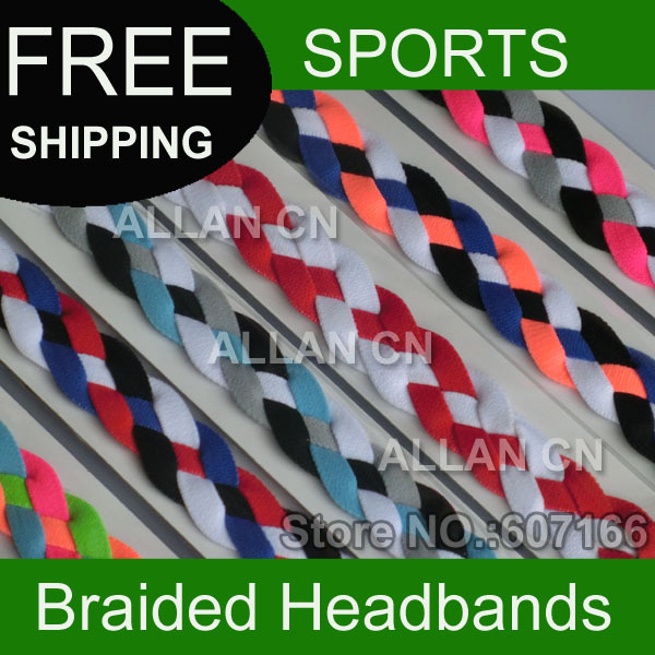 700pcs Braided Headband Chain and Leather Braided Headband Elastic Stretchy Fit Hair Band Fashion Hair Accessory(China (Mainland))