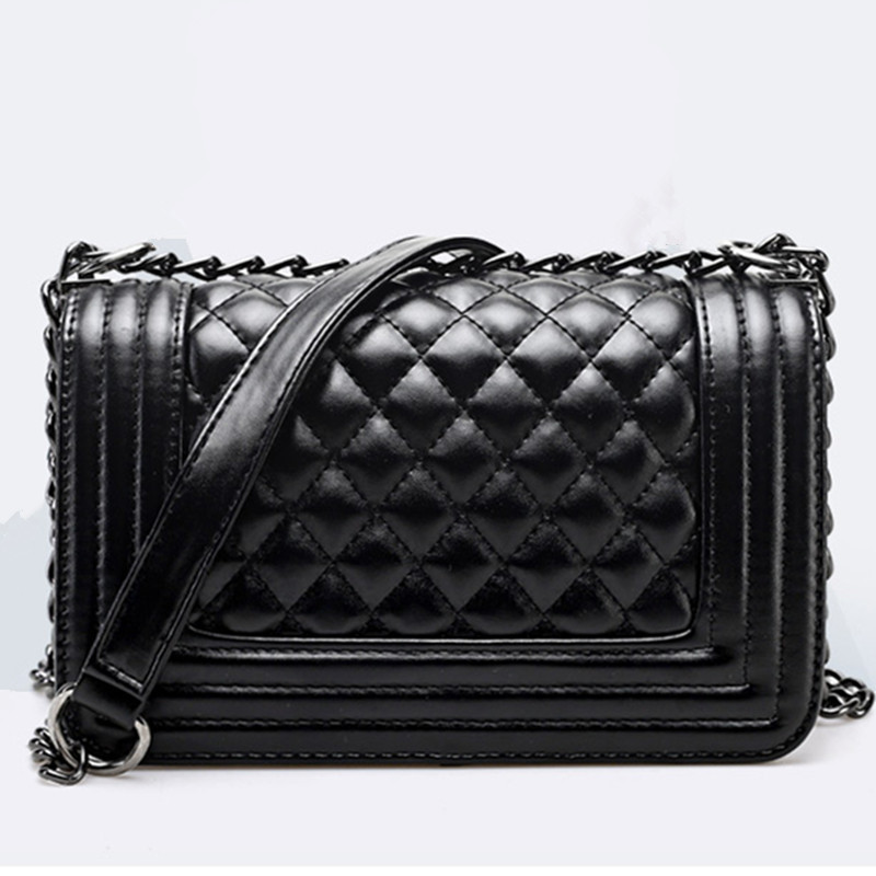 Brand Fashion Woman Bag Promotional Ladies luxury PU Leather Handbag Chain Shoulder Bag Plaid Women Crossbody Bags(China (Mainland))