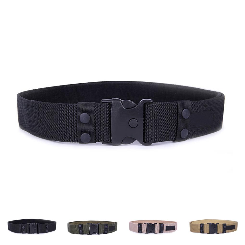 Adjustable Men's Belt Army Tactical Belt Nylon Combat Training Waistband Military Belts Plastic buckle 4 Style(China (Mainland))