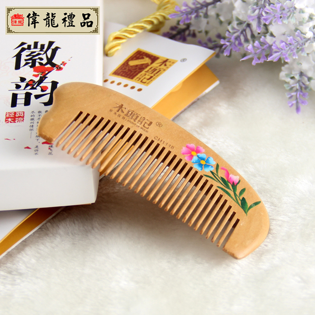 Pattern peach combs chinese style unique commercial practical gifts