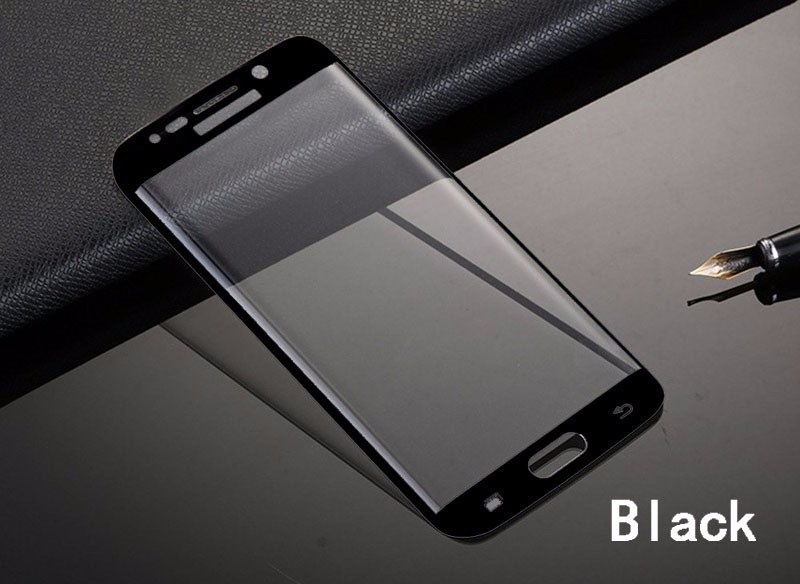 Hoting!!!For Samsung S6 Edge 0.2mm 9H Curved Tempered Glass 3D Full Screen Protector Film Samsung Galaxy S6 Edge S6 Edge Plus