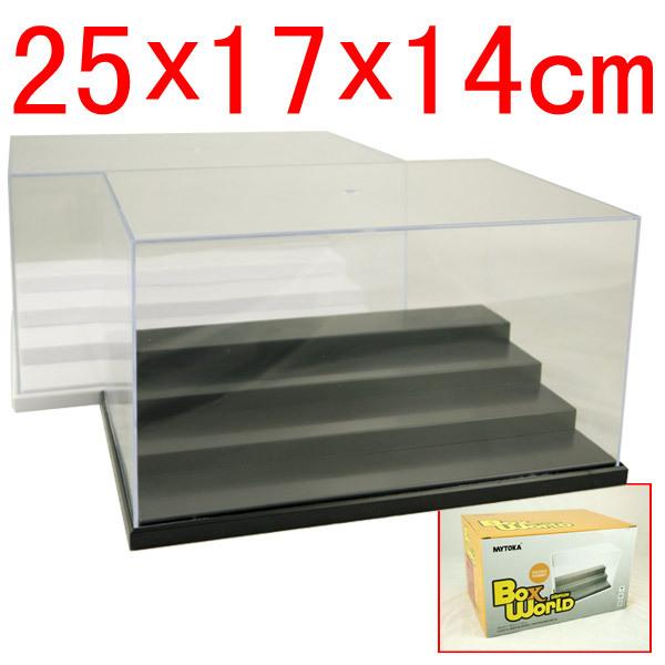 3 & 4 Steps Clear UV Acrylic Plastic Display Box Case Plastic Box Dustproof Protection Showcase Case Dollhouse Action Figure Toy(China (Mainland))