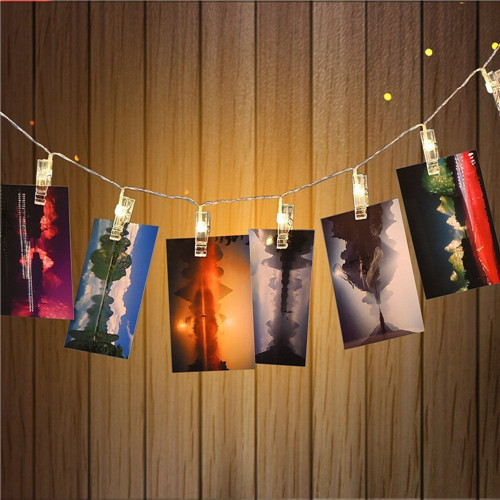 LED Hanging Picture Photo Clips Pegs Bright String Light Lamp Indoor 2.510leds , party,wedding decor(China (Mainland))