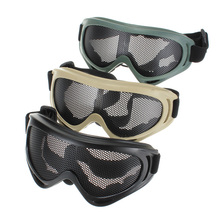 New Hot Sale Outdoors Hunting Airsoft Net Tactical Shock Resistance Eyes Protecting Outdoor Sports Metal Mesh Glasses Goggle(China (Mainland))
