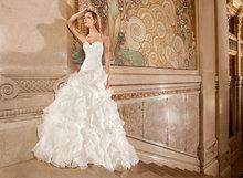 2015 Fashion Elegant Halter Pleat Layered Long Chiffon Wedding Dress Bridal Gown Custom Made ac-21(China (Mainland))