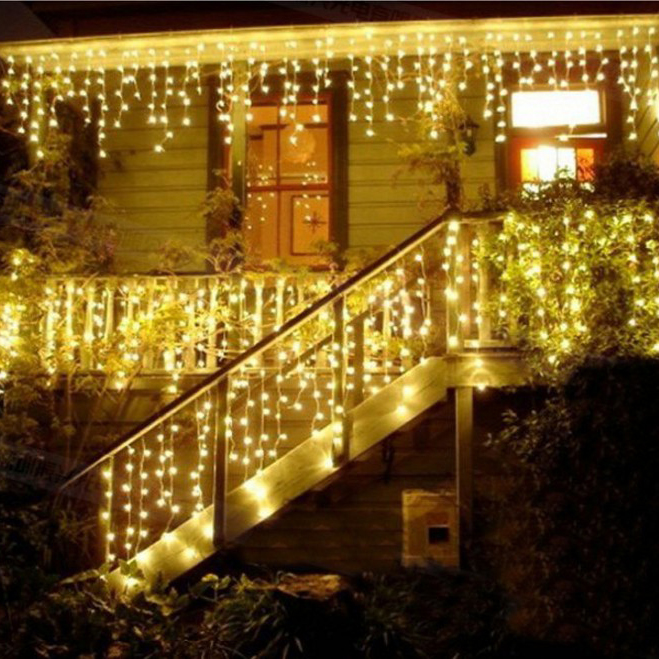 Connectable 4M led curtain icicle string lights led fairy lights Christmas lamps Icicle Lights Xmas Wedding Party Decor outdoor(China (Mainland))