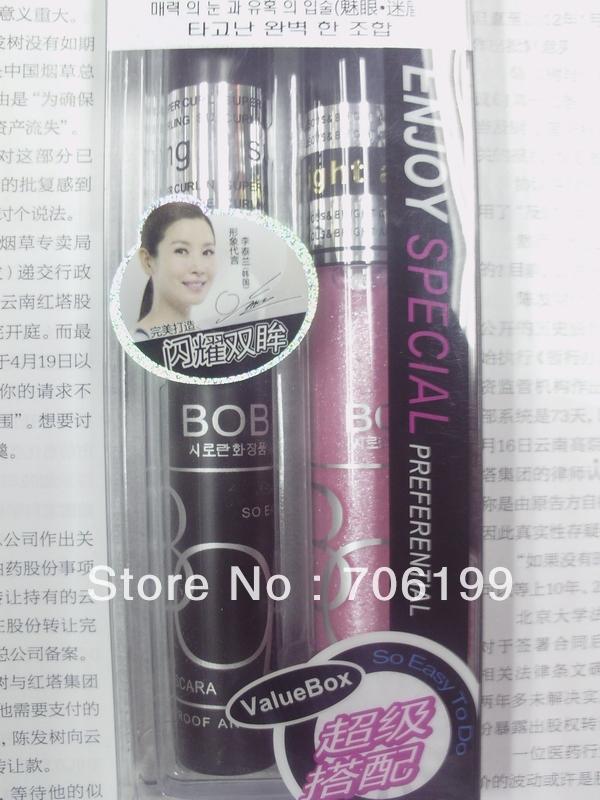 BOB Mascara + Lip Gloss Set / BOB spectacular Mascara +BOB stunning induced color lip gloss(China (Mainland))