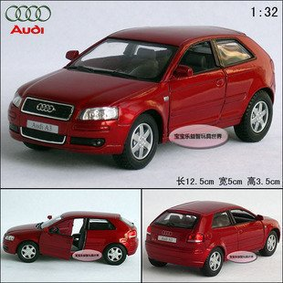 2015 best-selling AUDI A3 1:32 Alloy Diecast Car Model Toy Collection Red B101d(China (Mainland))