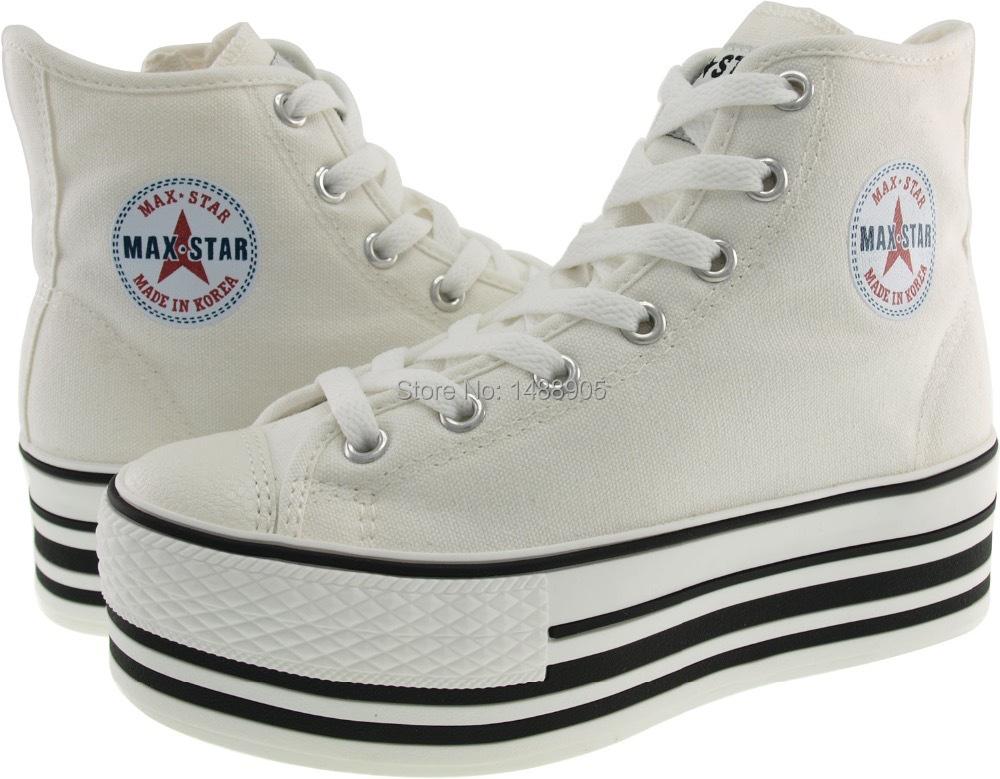 maxstar c50 7 holes zipper line platform sneakers white jpg