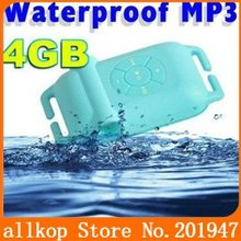 IPX8 4GB Waterproof MP3 Player Music player For Swimming/Running/Surf/sports Best gift for kid(4 color)(China (Mainland))