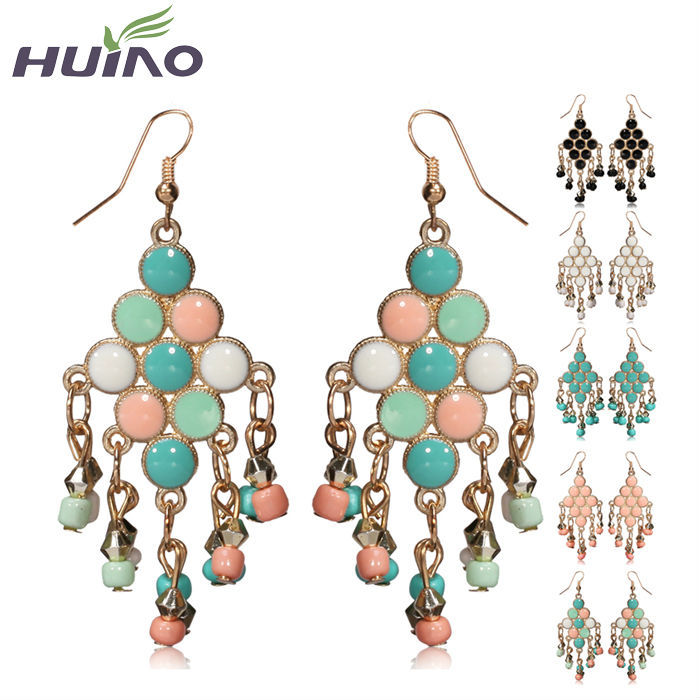 2015 Summer Holiday Design Fashion Bohemian Indian Jewelry Earrings Pearl Drop Jewelry Earrings(China (Mainland))