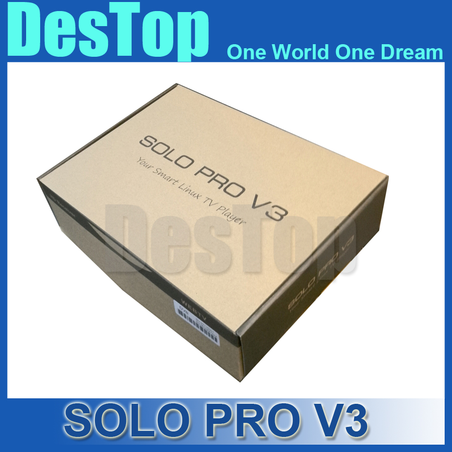 1pc/lot SOLO PRO V3,solo pro v3 new DVB-S2 HD Linux Enigma2 Satellite Receiver support Blackhole,Openpli,Openvix Free shipping(China (Mainland))