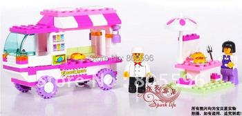 M38-B0155 Sluban Building Block Set compatible with  3D Enlighten Construction Brick Toys Educational Block toy for Children