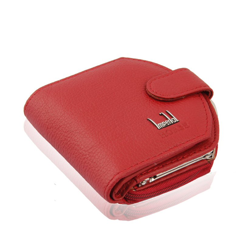 2016 Fashion Genuine Leather Red Women Wallet Short Luxury Famous Brand Designer Purse Clutch Bag Coin Money Card Holder Hot(China (Mainland))