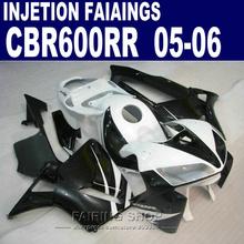 Buy +7gifts Injection Fairing CBR600RR 05 2005 For HONDA  (black white Fairings ) cbr-600rr 06 2006 kit l124 for $344.10 in AliExpress store