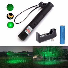 Military 532nm 5mw 303 Green Laser Pointer Lazer Pen Burning Beam +18650 Battery Burning Match+Charger(China (Mainland))