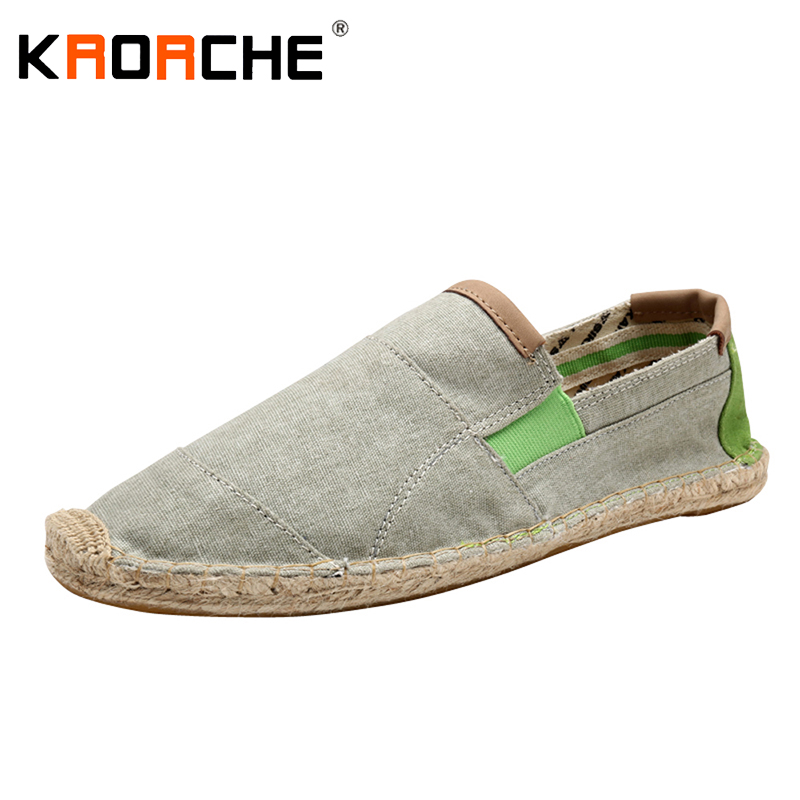 New Arrivals Men Canvas Flat Shoes Fashion Espadrille Size 5.5-9.5 Summer Cool Lightweight Man Loafer Shoes Lazy Wholesale Cheap(China (Mainland))