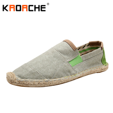 New Arrivals Men Canvas Flat Shoes Fashion Espadrille Size 5.5-9.5 Summer Cool Lightweight Man Loafer Shoes Lazy Wholesale Cheap